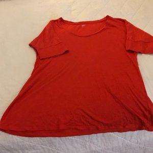 Short sleeve orange t-shirt